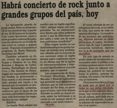HATE: ¿Primera vez en Oruro?