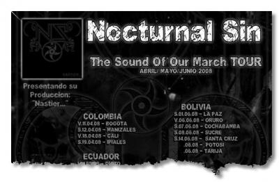 Nocturnal Sin en Bolivia (y en Oruro)