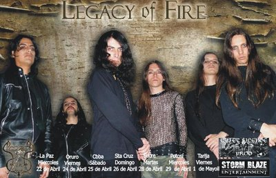Legacy Of Fire - Tour Of Unfortunate-Bolivia