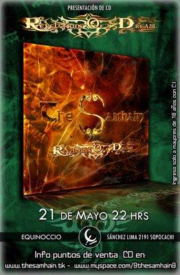 (LA PAZ - BOLIVIA) SAMHAIN PRESENTA SU DISCO DEBUT ESTE 21 DE MAYO