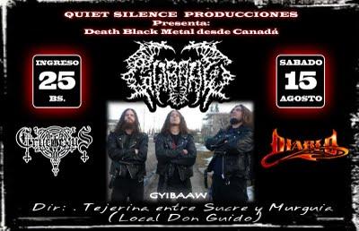 Sábado 15/08 GYIBAAW Death Metal (Canadá)