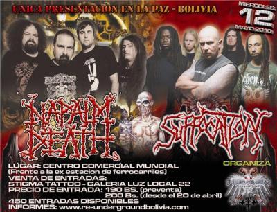 NAPALM DEATH - SUFFOCATION LA PAZ BOLIVIA 12 DE MAYO 2010