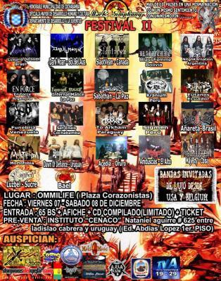 Dark Simphony Fest II en Cochabamba (7 y 8 de Diciembre)
