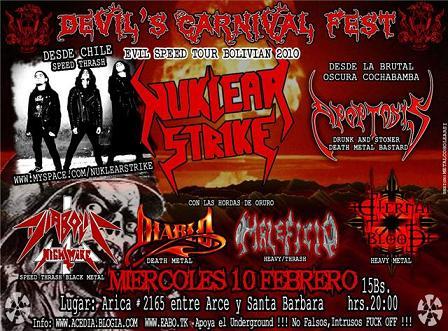 DEVIL'S CARNIVAL  FEST   ORURO 10 de febrero