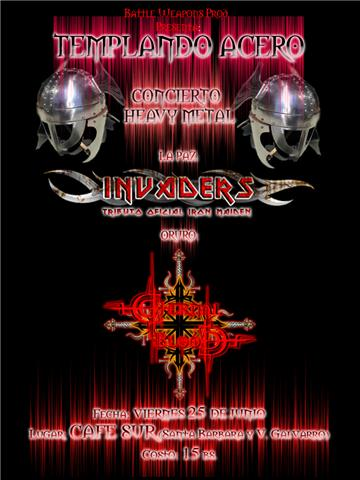 ETERNAL BLOOD E INVADERS EN CAFE SUR