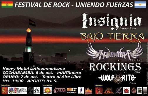 FESTIVAL ROCK-UNIENDO FUERZAS